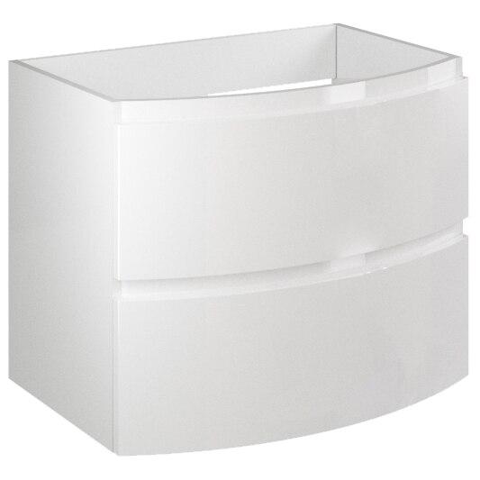 Fotografie Masca Kring Veronica cu 2 sertare cu inchidere amortizata, din MDF, infoliat alb lucios, 70x56x49 cm