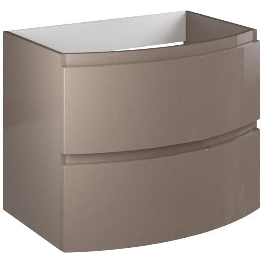 Fotografie Masca Kring Veronica cu 2 sertare cu inchidere amortizata, din MDF, infoliat cappuccino lucios, 70x56x49 cm