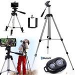 Алуминиев трипод за фотоапарат и телефон, статив, Bluetooth shutter remote
