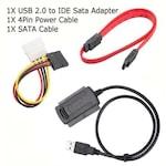 """USB Кабел за връзка към диск 2.5""""/3.5"""" SATA/IDE HDD/DVD"""