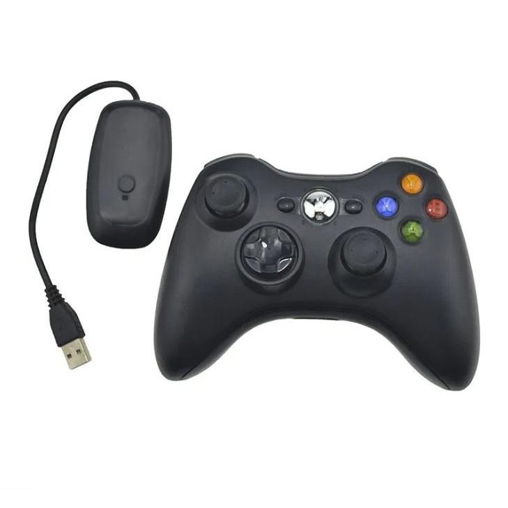 Xbox 360 Wireless Controller New Black + PC USB Adapter