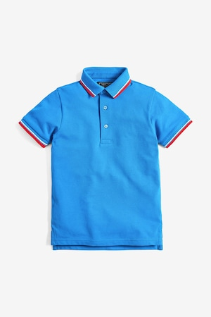 NEXT, Pamuttartalmú galléros póló, Kék, 11Y Standard