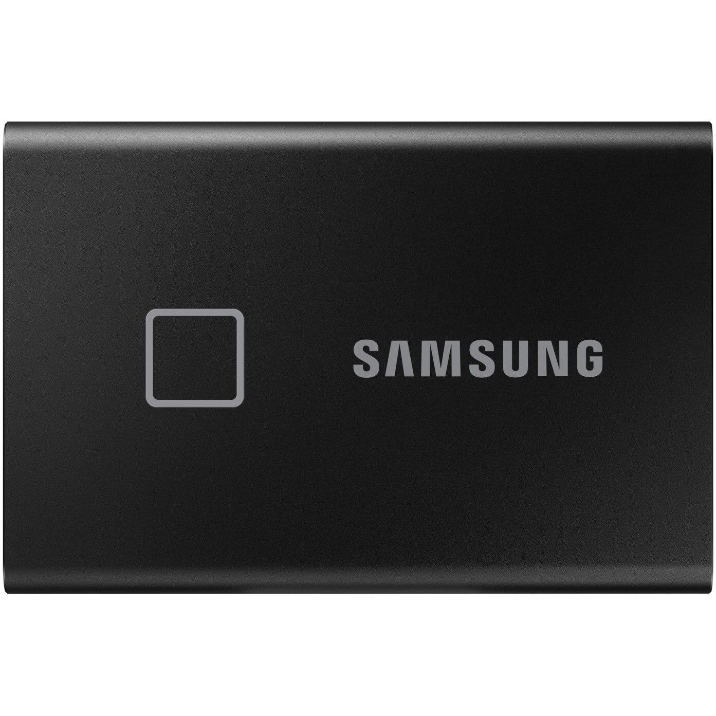 Fotografie SSD extern Samsung T7 Touch, 500GB, USB 3.2 Gen2, Securizare Amprenta, Negru