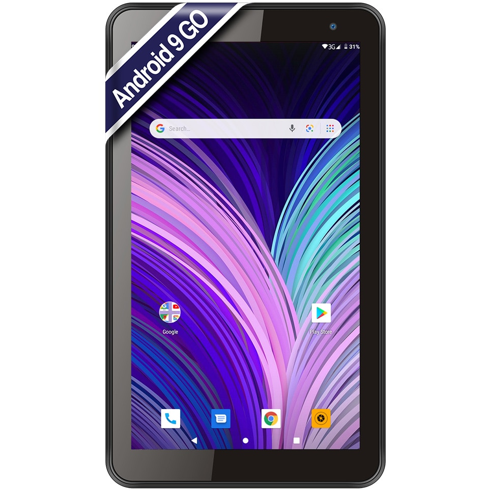 """Fotografie Tableta Vonino Pluri M7 2020, 7"""", Quad Core 1.3 GHz, 1GB RAM, 16GB, 3G, Black"""