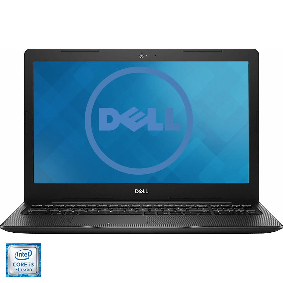 "Fotografie Laptop Dell Inspiron 15 3584 cu procesor Intel® Core™ i3-7020U pana la 2.30 GHz, 15.6"", Full HD, 4GB, 1TB HDD, Intel HD Graphics,Ubuntu, Black"
