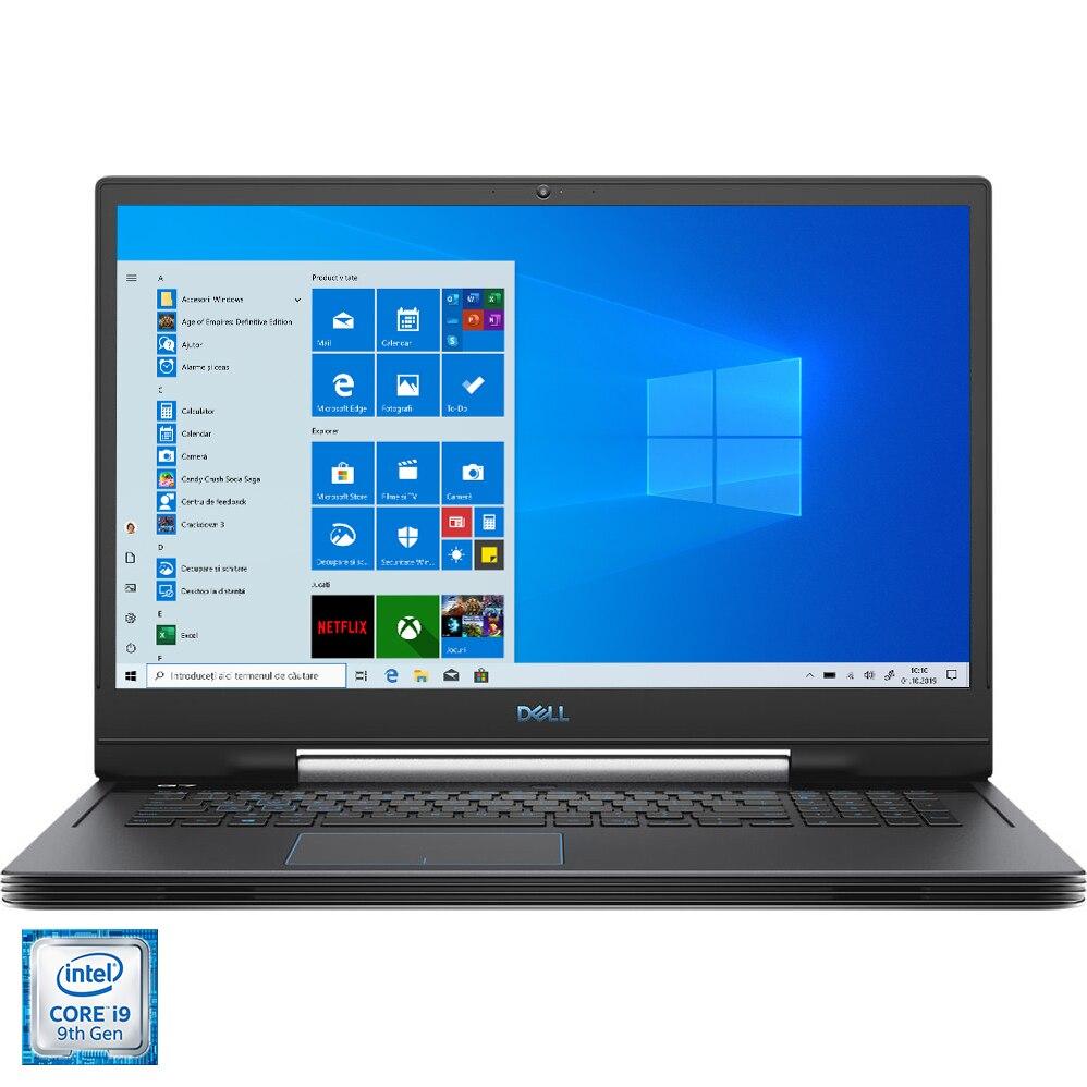 "Fotografie Laptop Gaming Dell Inspiron G7 7790 cu procesor Intel® Core™ i9-9880H pana la 4.80 GHz, 17.3"", Full HD, IPS, 144Hz,16GB, 512GB SSD, NVIDIA GeForce RTX 2080 8GB Max-Q Design, Windows 10 Home, Black"