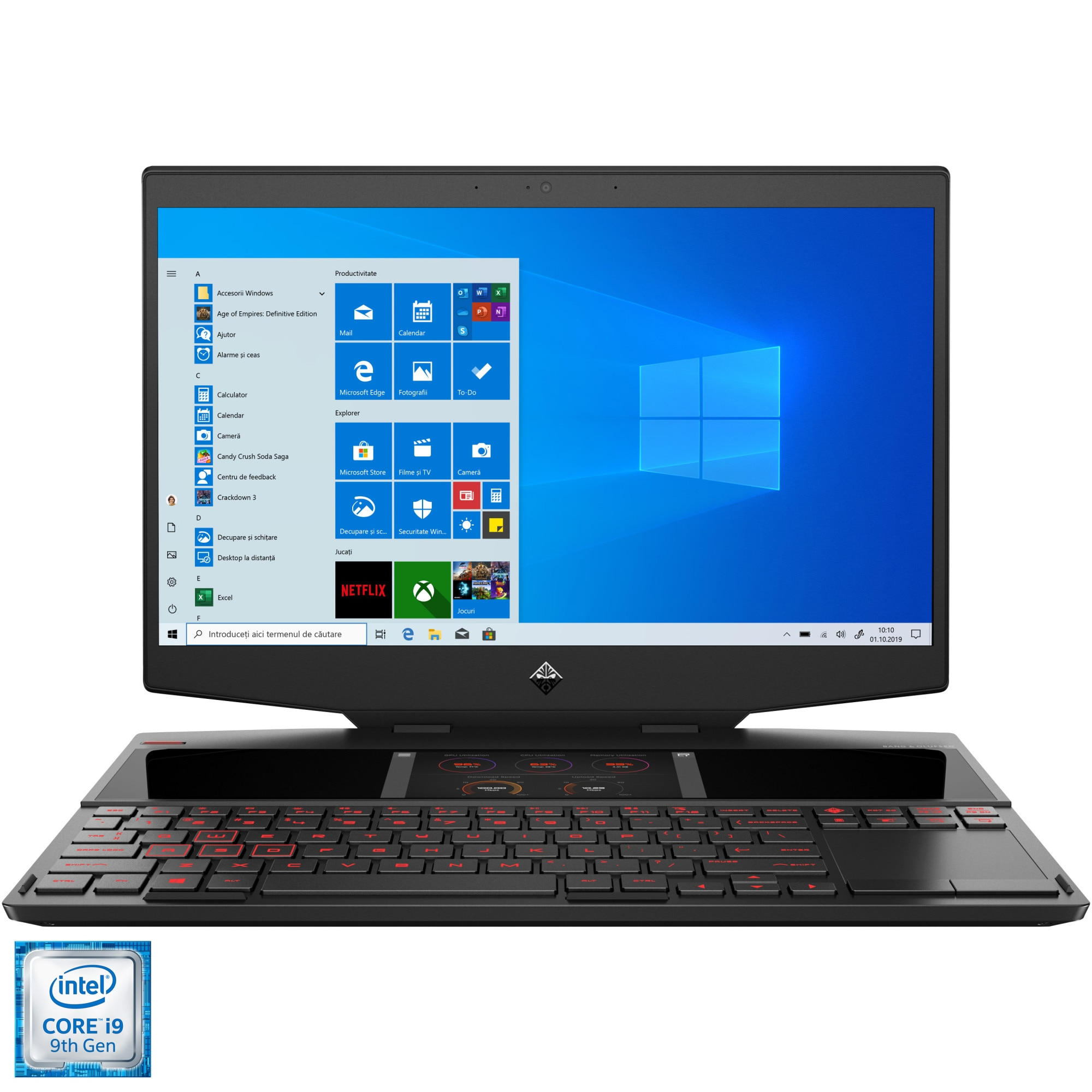 "Fotografie Laptop Gaming OMEN X 2S by HP 15-dg0005nq cu procesor Intel® Core™ i9-9880H pana la 4.80 GHz Coffe Lake, 15.6"", Full HD, IPS, 240Hz, G-Sync, 32GB, 1TB SSD, NVIDIA® GeForce RTX™ 2080 8GB, Windows 10 Home, Black"