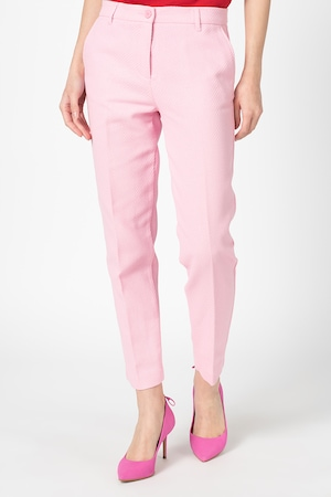 United Colors of Benetton, Pantaloni cu aspect texturat, Roz