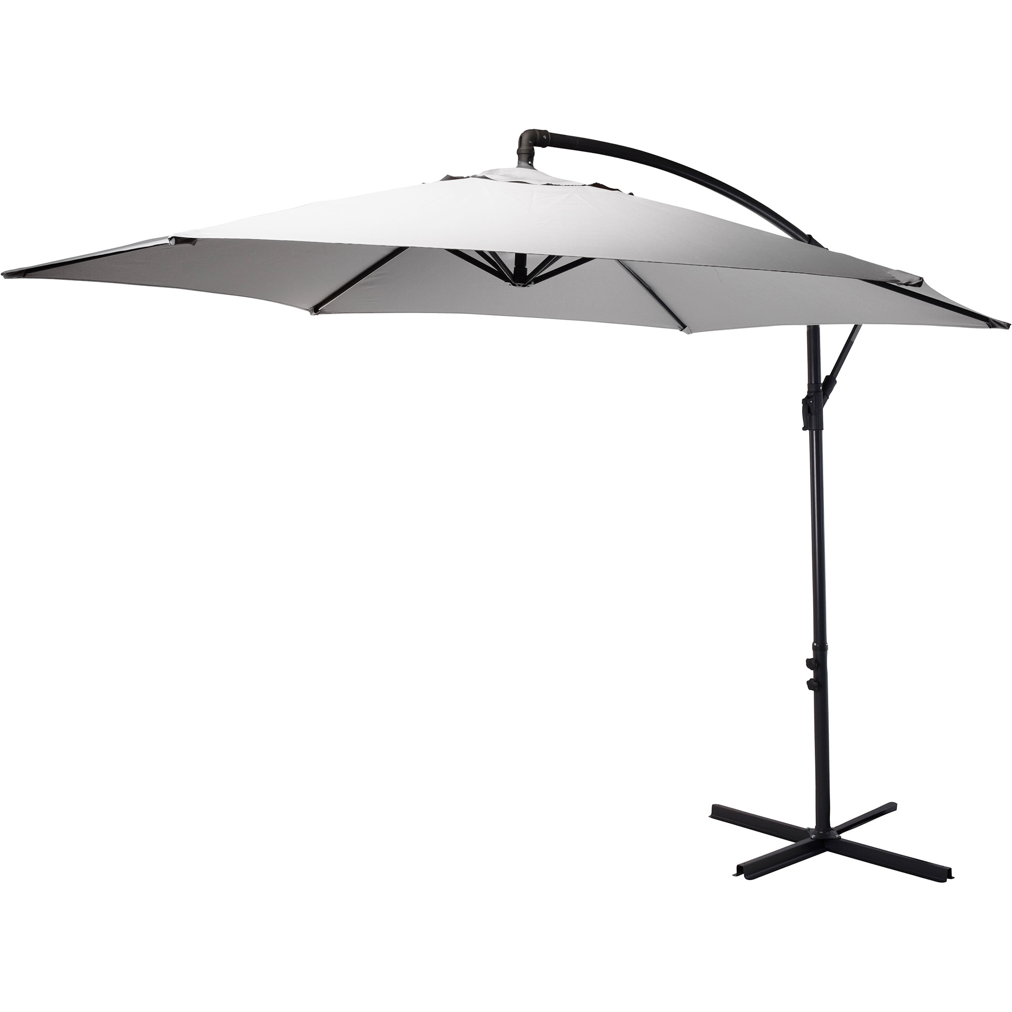 Fotografie Umbrela de soare suspendata, Ambiance, 300 cm, gri deschis