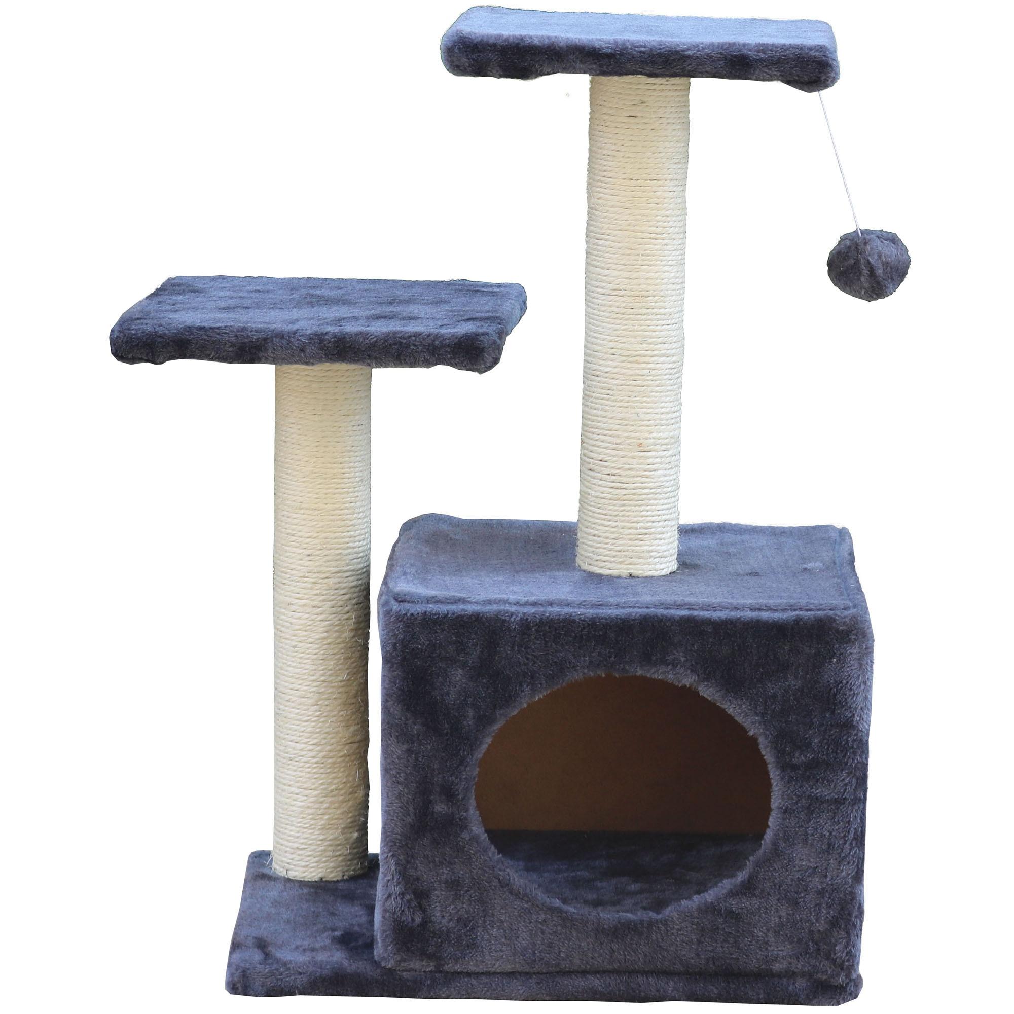 Fotografie Ansamblu de joaca pentru pisici Mellow Axi, 44x33x71 cm, Gri