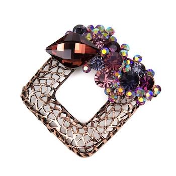 Brosa dama vintage cu cristale, mov