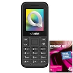 Alcatel 1066 Feltöltőkártyás Mobiltelefon, FM rádió, fekete + Telekom Domino Quick SIM kártya