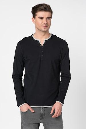 Esprit, Bluza din bumbac organic, Negru, S