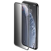 Folie din Sticla Securizata Full Privacy - iPhone 11 / XR, Baseus Rigid Edge, Rama Intarita, 3D 9H, Sticla 0.3 mm, Premium