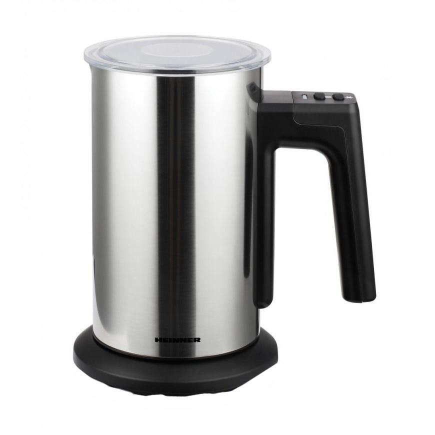 Fotografie Aparat de spumat lapte Heinner HMFR-150SS, spumare: 150ml, incalzire: 300ml, dispozitiv spumare detasabil, auto-oprire, Inox