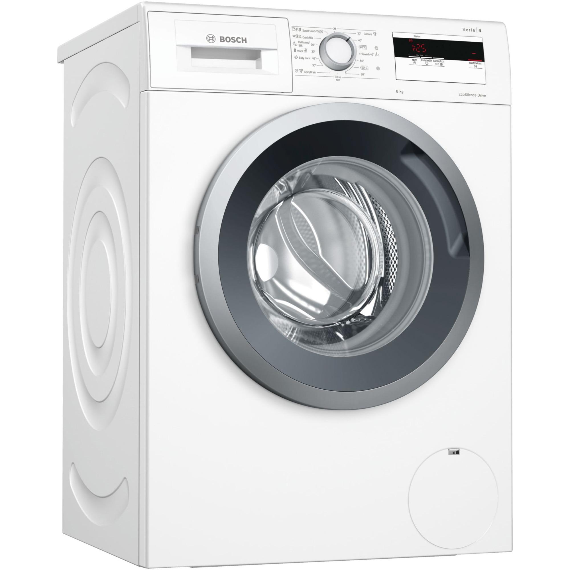 Fotografie Masina de spalat rufe Bosch WAN24061BY, 8 kg, 1200 RPM, Clasa A+++, EcoSilence Drive, Alb