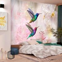 Fotótapéta - Színes kolibrik (rózsaszín) 250x175