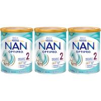 Pachet lapte praf Nestle NAN 2 Optipro, 3 x 800g, de la 6 luni