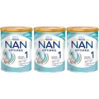 Pachet lapte praf Nestle NAN 1 Optipro, 3 x 800g, 0-6 luni