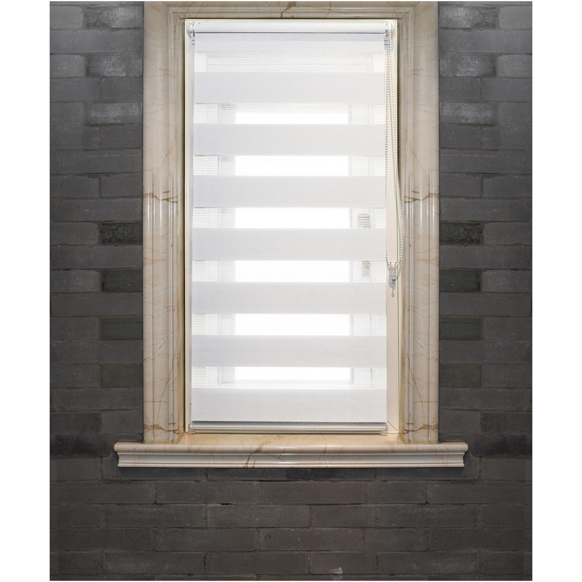 Fotografie Rulou textil zebra Kring, 100% poliester, 120 gsm , 60x150 cm, Alb