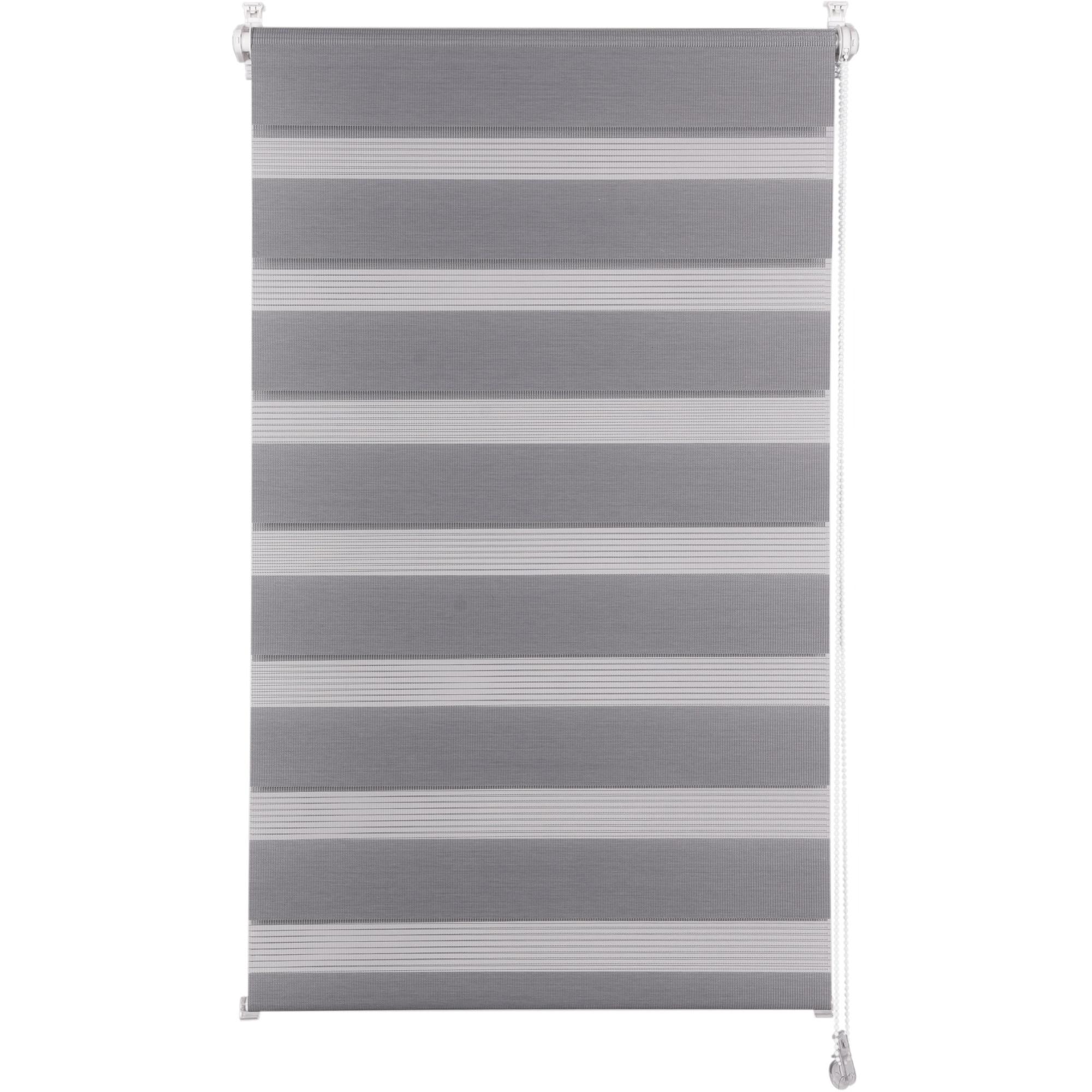Fotografie Rulou textil zebra Kring, 100% poliester, 120 gsm , 56x150 cm, Gri