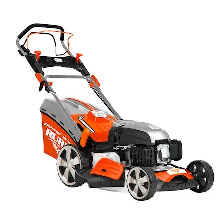 Косачка за трева RURIS RX331S, 3.5 CP, 139 CC, 4 такт, 45,7 см работна ширина, 25-75 мм работна височина, Самоходна, Метален корпус, Кош за събиране 65 л, Бензин 1 л.