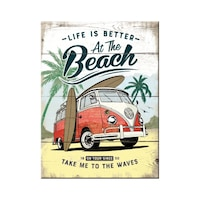 Magnet VW Bulli-Beach