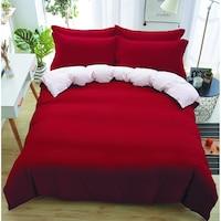 7Mall - SENDIA® Többféle színben pamut 6 részes ágyneműhuzat - piros