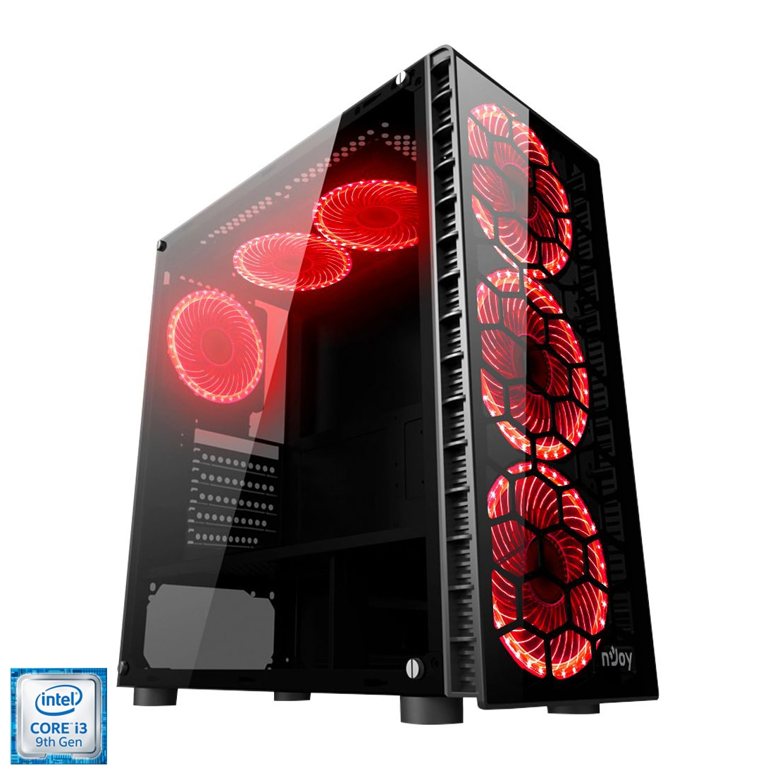 Fotografie Sistem Desktop PC Gaming Serioux cu procesor Intel® Core™ i3-9100F pana la 4.20GHz, 8GB DDR4, 1TB HDD, 120GB SSD, Radeon™ RX 570 4GB GDDR5