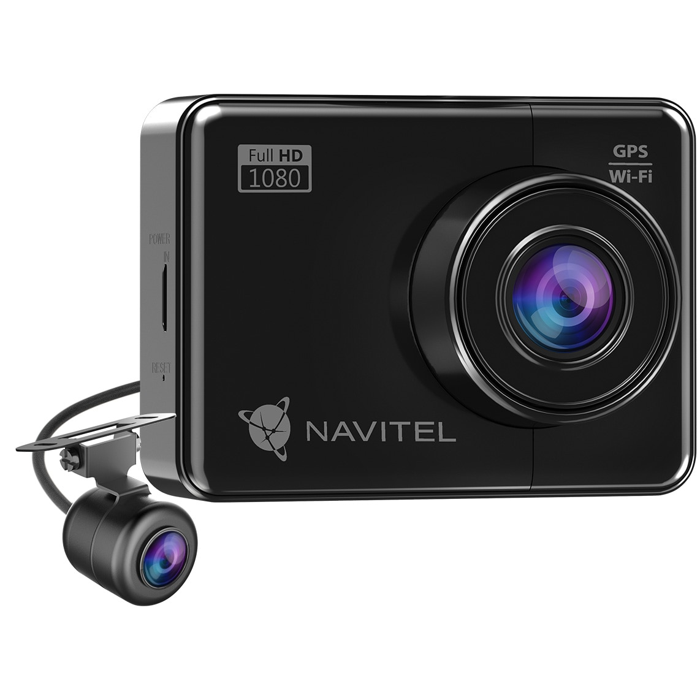 "Fotografie Camera Auto DVR Navitel R700 Dual, cu GPS ,Night Vision, WiFi , senzor SONY IMX307, ecran 2.7"", inregistrare FHD + audio, vizibilitate 170 grade, camera spate IP65 cu rotatie 180° pentru exterior"