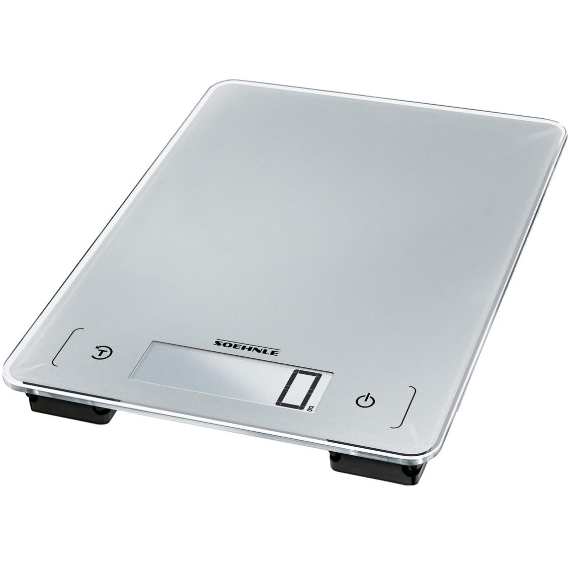 Fotografie Cantar Bucatarie Soehnle 66225 Aqua Proof 10 kg, 1g, impermeabil, Argintiu