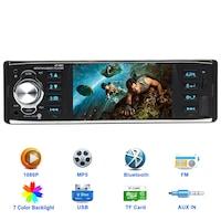 "Мултимедия аудио,видео плеър за кола MP5 Amio 183CR B 4.1"" Единичен Din Wireless Remote Control Car Mp3 Mp4 MP5 Player with Bluetoothi FM Radio Car Stereo Reciverer Rear View Backup Camera"