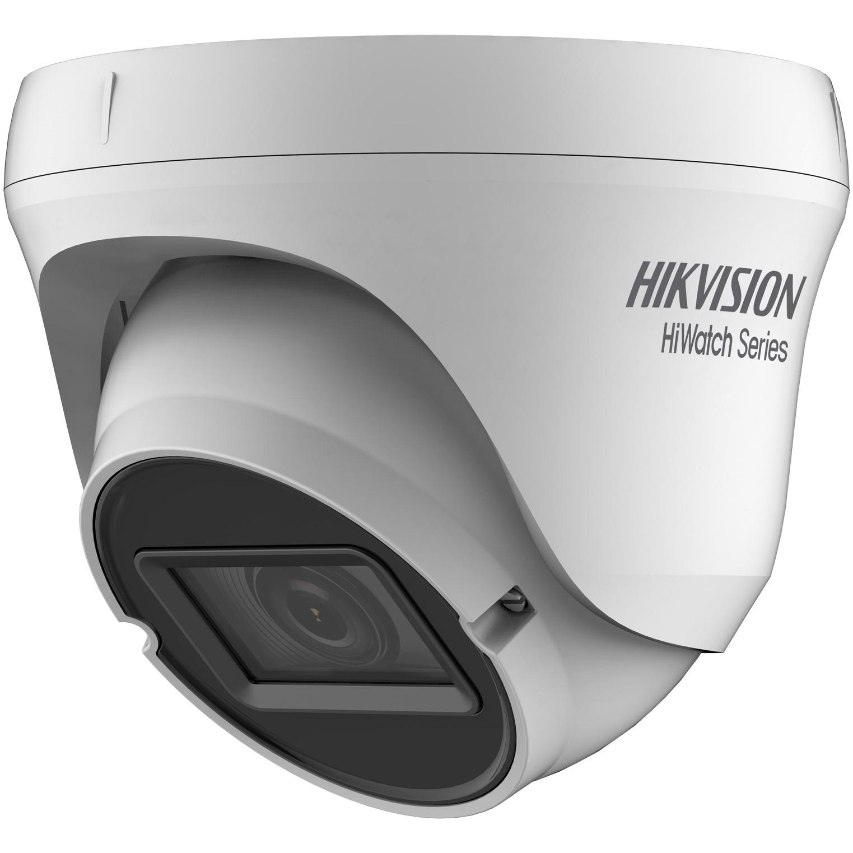Fotografie Camera de supraveghere Hikvision HiWatch Turbo HD Dome, 4MP, 2.8-12mm Vari Focal Lens, EXIR Eyeball, 40m IR, IP66, Alb