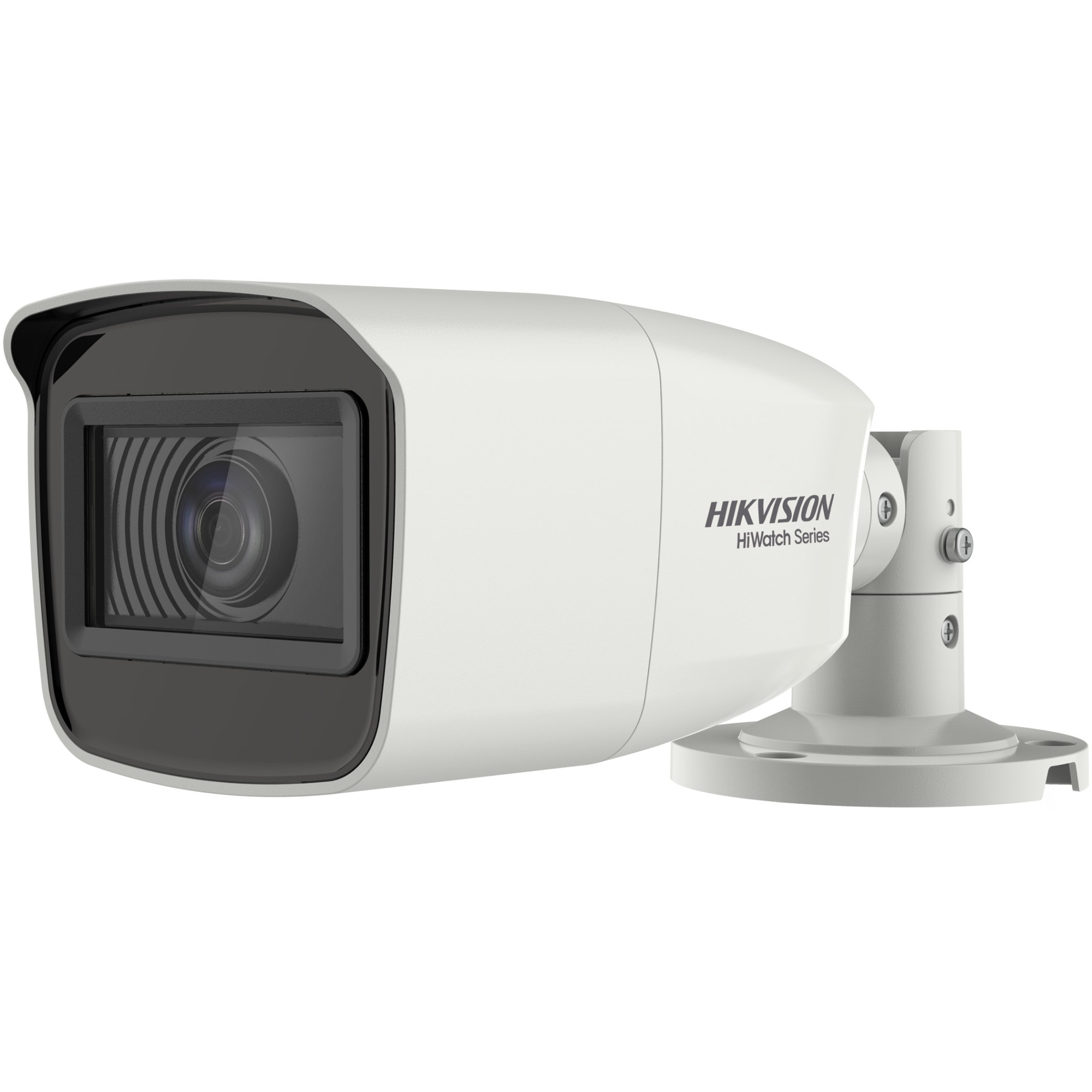 Fotografie Camera de supraveghere Hikvision HiWatch Turbo HD Bullet, 2MP, 2.7-13.5mm Vari Focal Lens, 70m IR, EXIR Bullet, IP66, Alb
