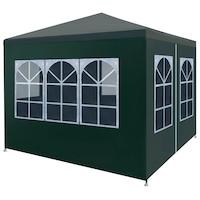 Парти шатра vidaXL, 3х3х2,55 м, зелена