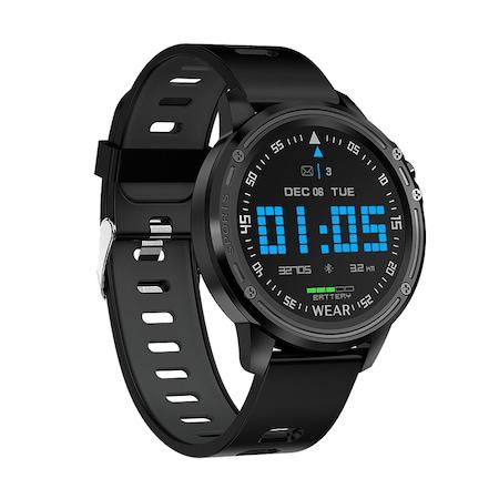 Мъжки, спортен смарт часовник Smart Wear PR8, HR, Калории, Кръвно налягане, Bluetooth, Нотификации, Черен
