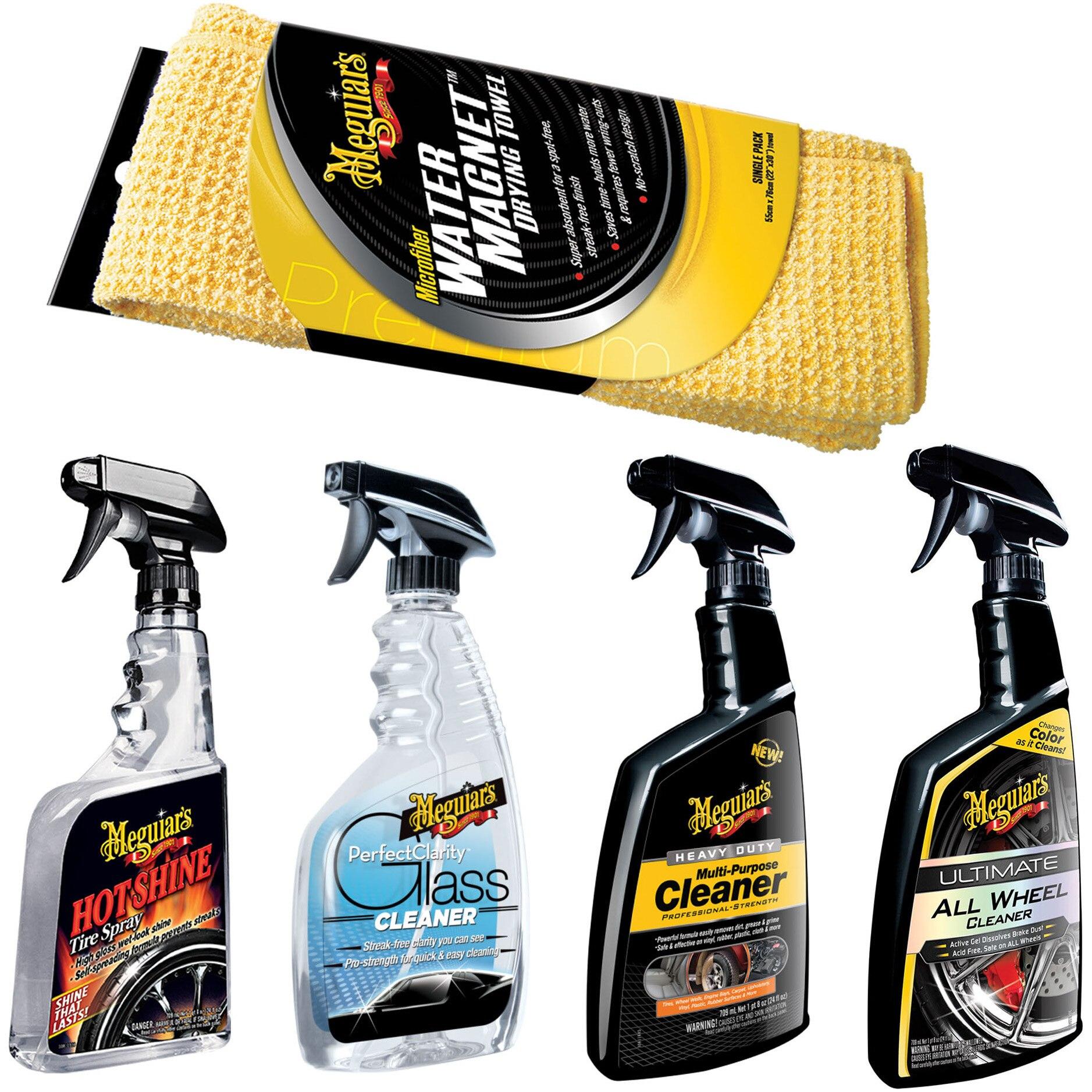 Fotografie Pachet cosmetica pentru spalatorie tip self wash, utilizare interior si exterior, produse de ingrijire auto premium, Meguiar's, made in SUA