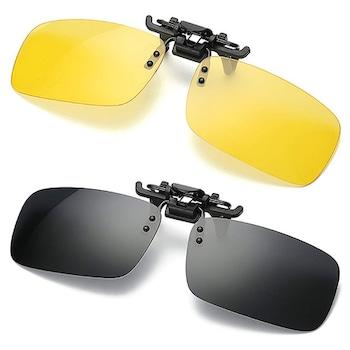 Lentile polarizate pentru ochelari de vedere, SIKS®, tip Clip On, de condus ziua si noaptea + 2 tocuri incluse