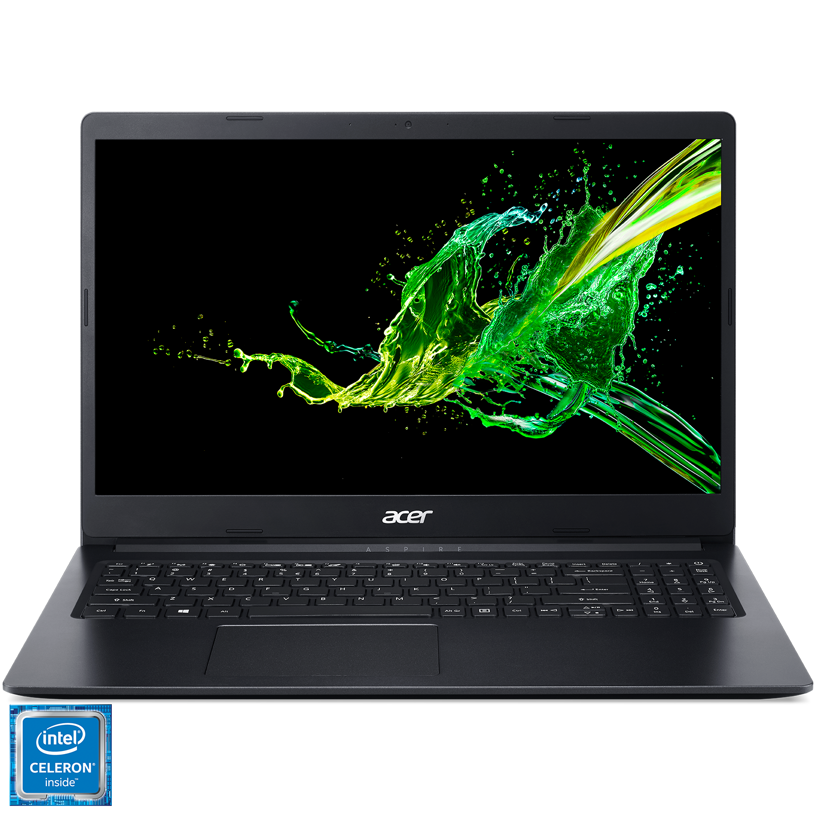 "Fotografie Laptop Acer Aspire 3 A315-34 Intel® Celeron® Quad Core N4100 pana la 2.40 GHz, 15.6"", Full HD, 4GB, 128GB, Intel® UHD Graphics 600, No OS, Black"
