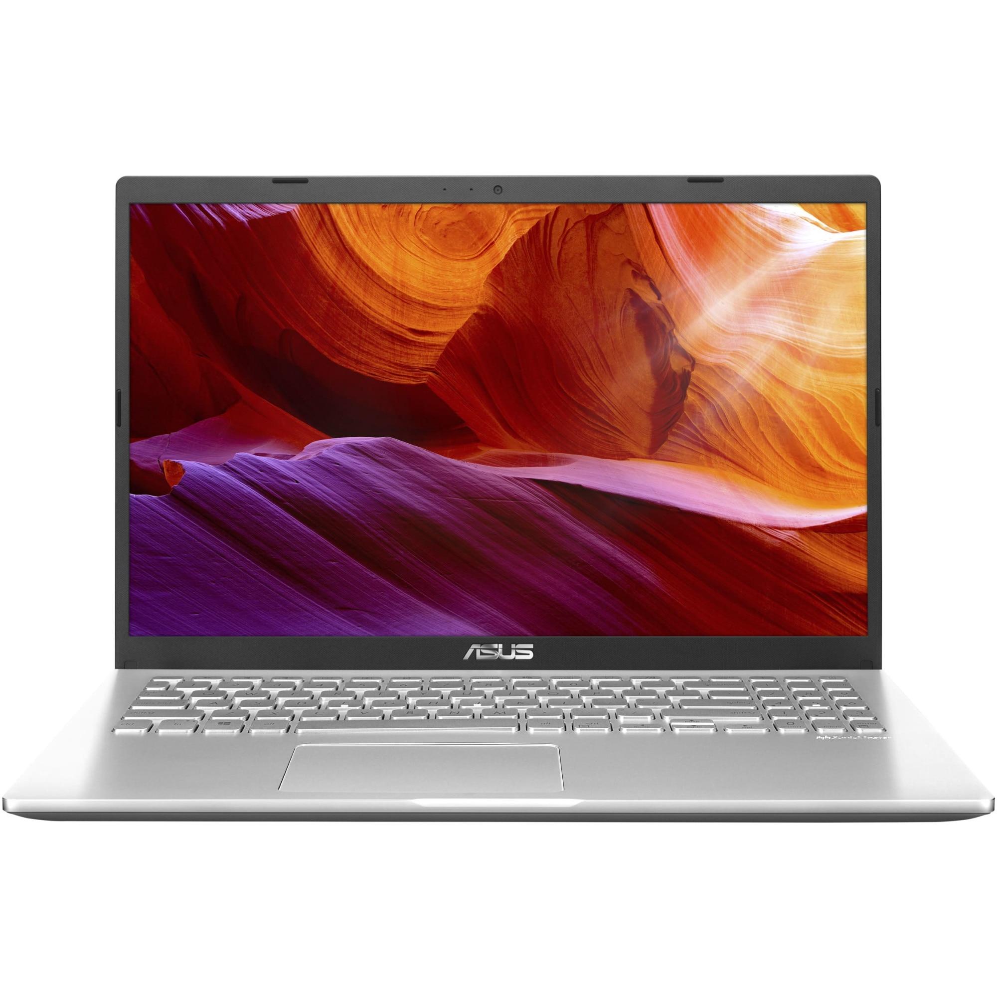 "Fotografie Laptop ASUS M509DA cu procesor AMD Ryzen™ 3 3250U pana la 3.5GHz, 15.6"" Full HD, 4GB, 256GB SSD, AMD Radeon™ Graphics, Free DOS, Transparent Silver"