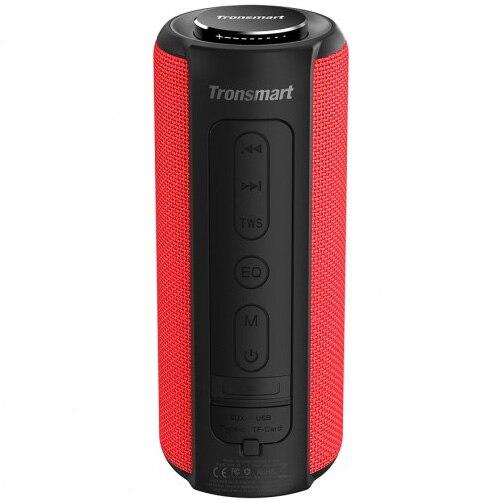 Fotografie Boxa portabila Tronsmart Element T6 Plus , Bluetooth 5.0, IPX 6 rezistenta la apa, functie de baterie externa, 40 W, Rosu