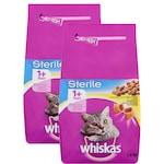 WHISKAS Sterile száraz macskaeledel, 2x 1,4 kg