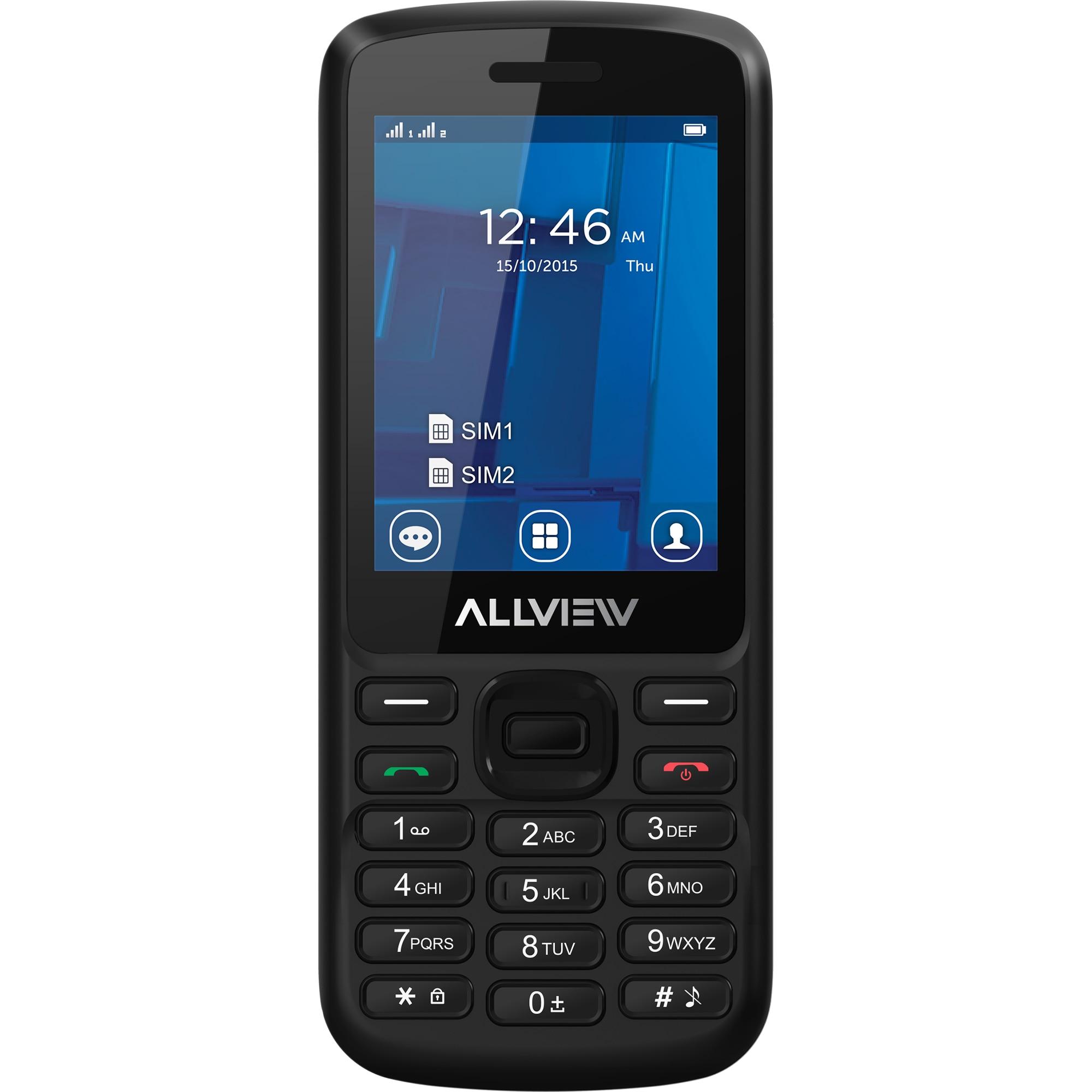 Fotografie Telefon mobil Allview M9 Join, Dual Sim,128MB,3G, Black