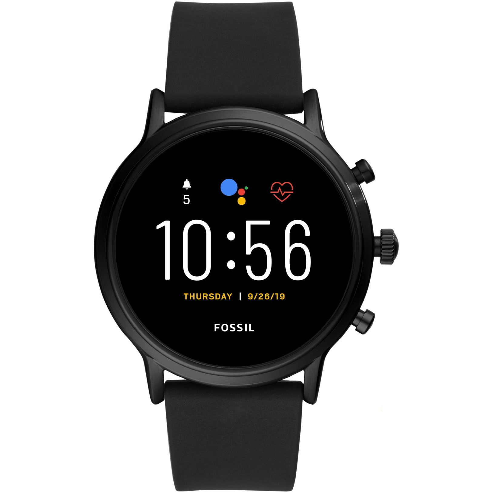 Fotografie Ceas Smartwatch Fossil The Carlyle HR, Black/Black Silicone