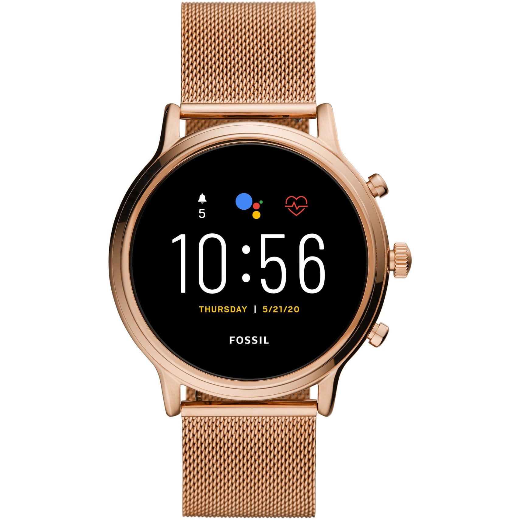 Fotografie Ceas Smartwatch Fossil Julianna HR, Mesh, Gold/Steel