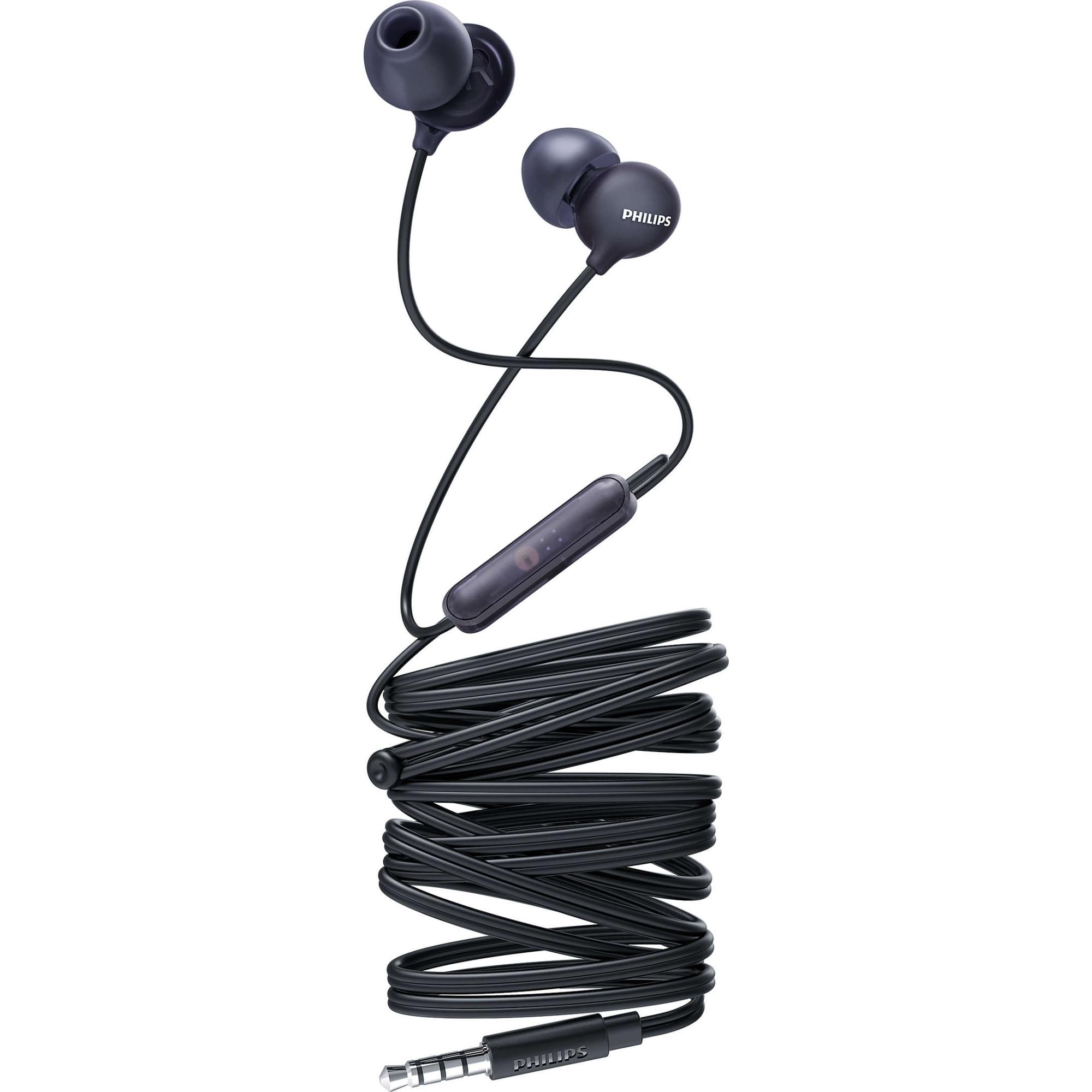 Fotografie Casti Audio In-Ear Philips, SHE2405BK/00, cu fir, Microfon, Negru