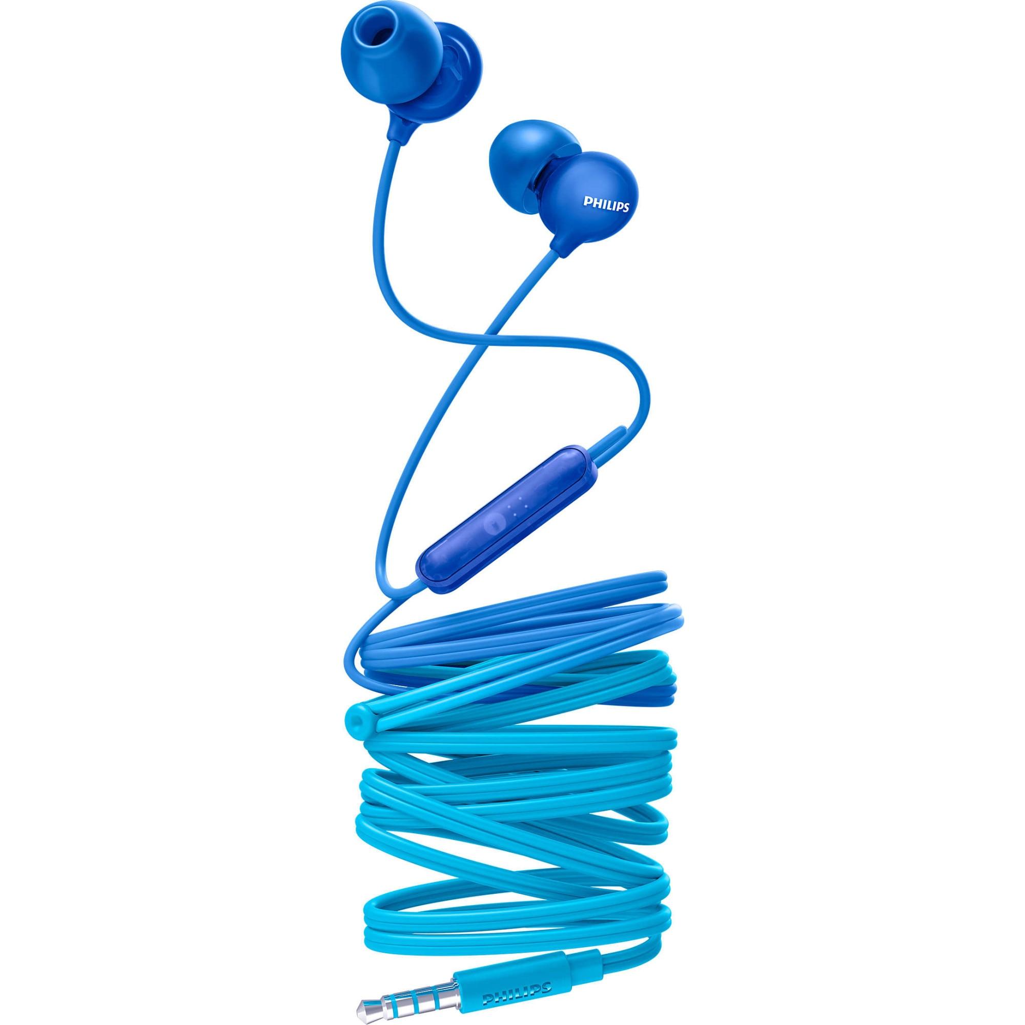 Fotografie Casti Audio In-Ear Philips, SHE2405BL/00, cu fir, Microfon, Albastru