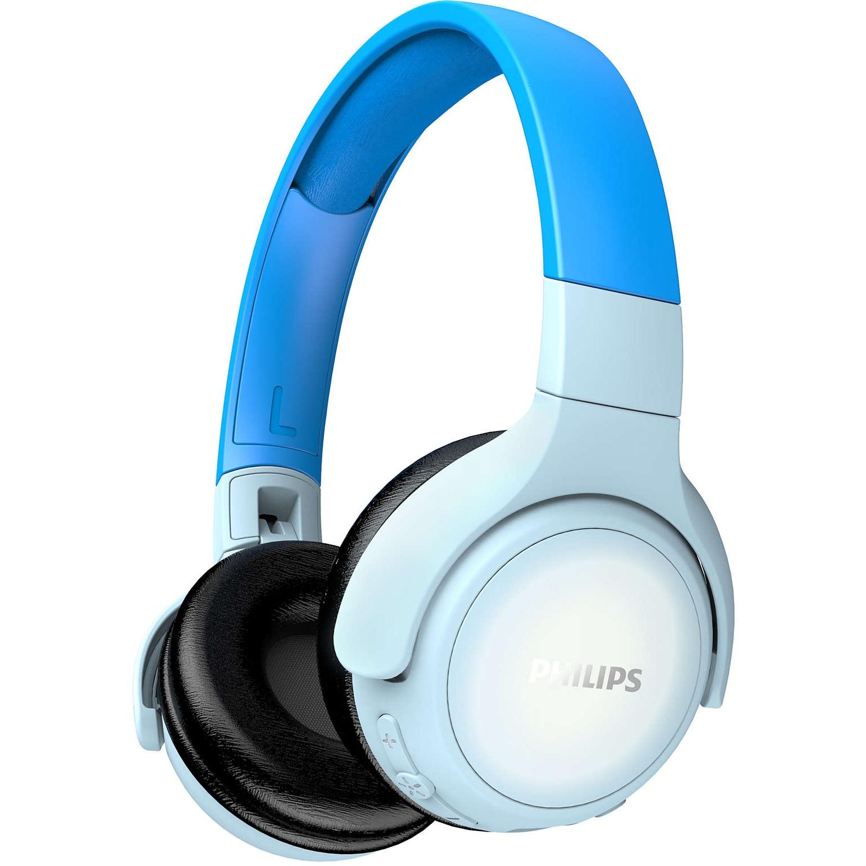 Fotografie Casti Audio pentru copii Over-Ear Philips, TAKH402BL/00, Bluetooth, Autonomie 20h, Albastru