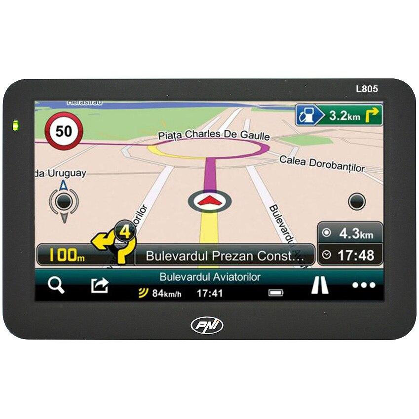 Fotografie Sistem de navigatie GPS PNI L805 ecran 5 inch, harta Europei Mireo Don't Panic + Actualizari pe viata a hartilor