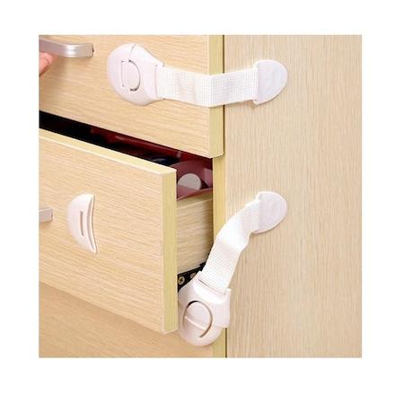 Set 10 protectii pentru usi de dulap, Alb